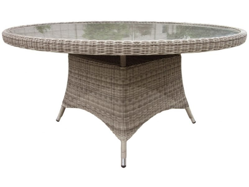 Round 6 seater wicker dining table