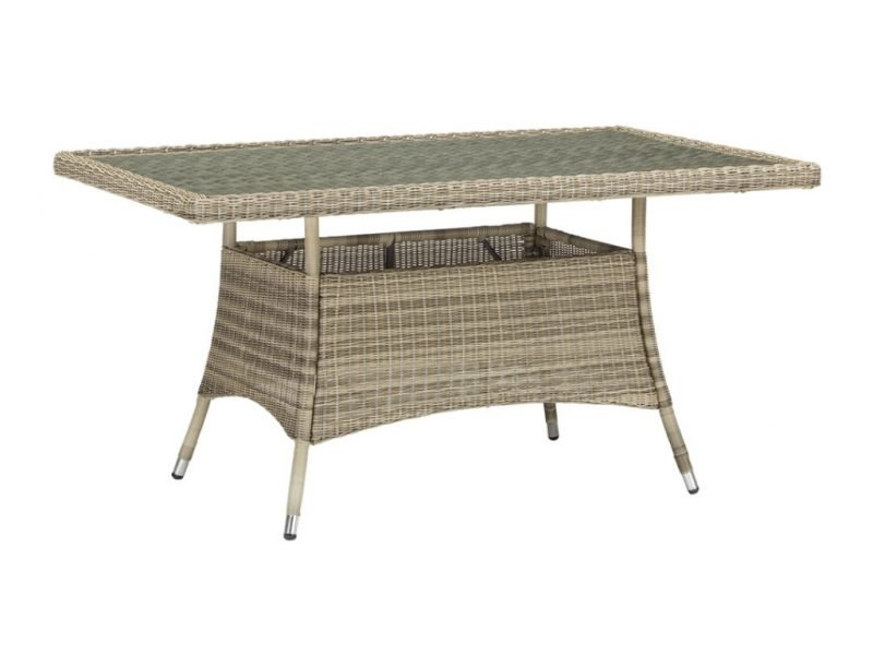 6-seater garden dining table