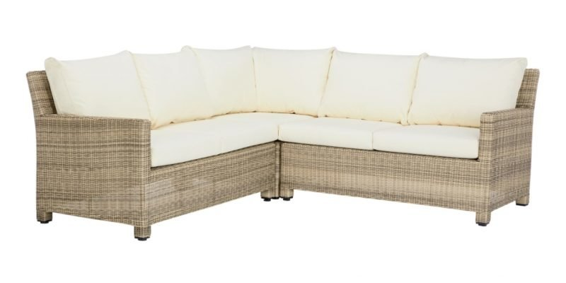 Wicker 4-seater corner sofa