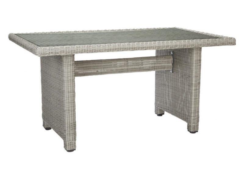 Rectangular wicker dining table