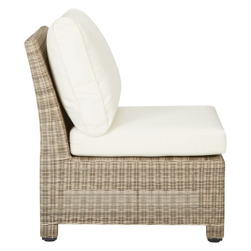 Modular wicker chair unit with cushions