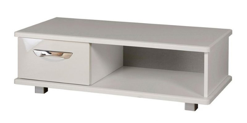 Gloss coffee table with drawer