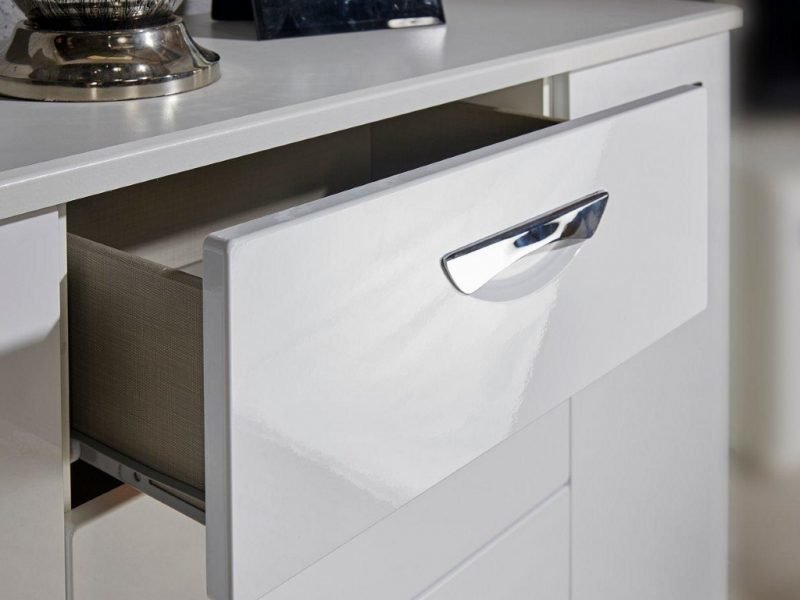 Neptune gloss drawer detail