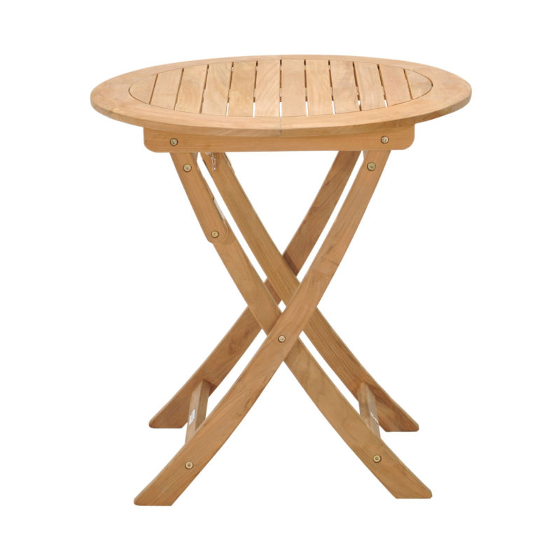 Foldable solid wood bistro table