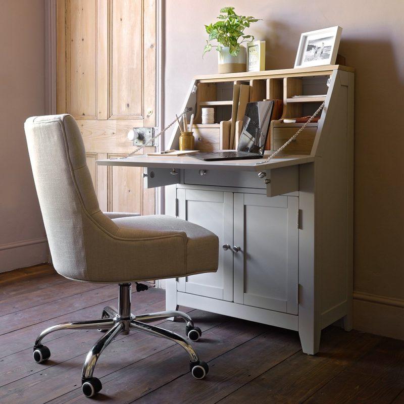 Grey-painted bureau