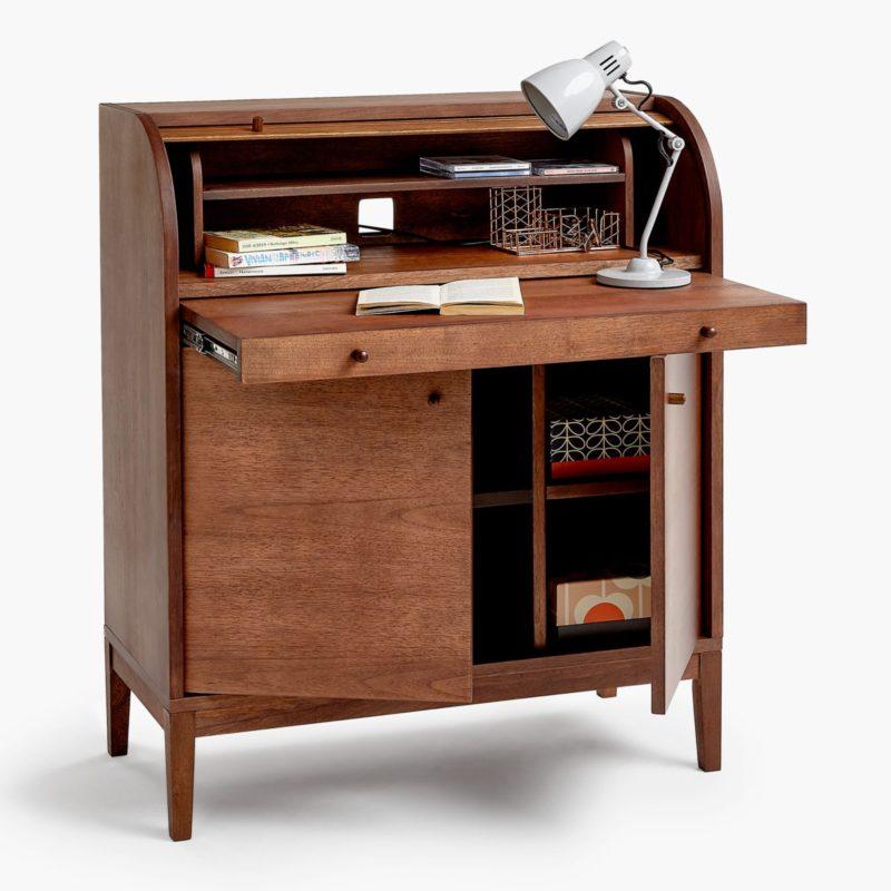 Bureau desk with walnut finish
