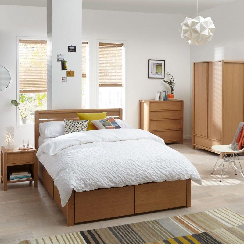 Scandi style oak bedroom furniture
