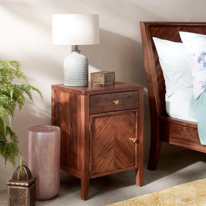 Acacia bedside cabinet