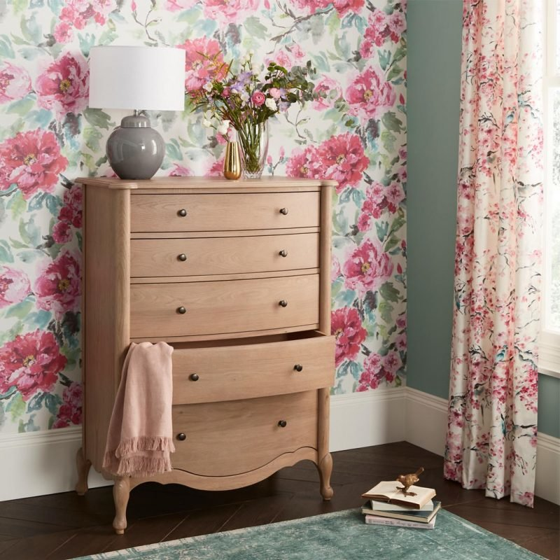 Curved 5 drawer chest