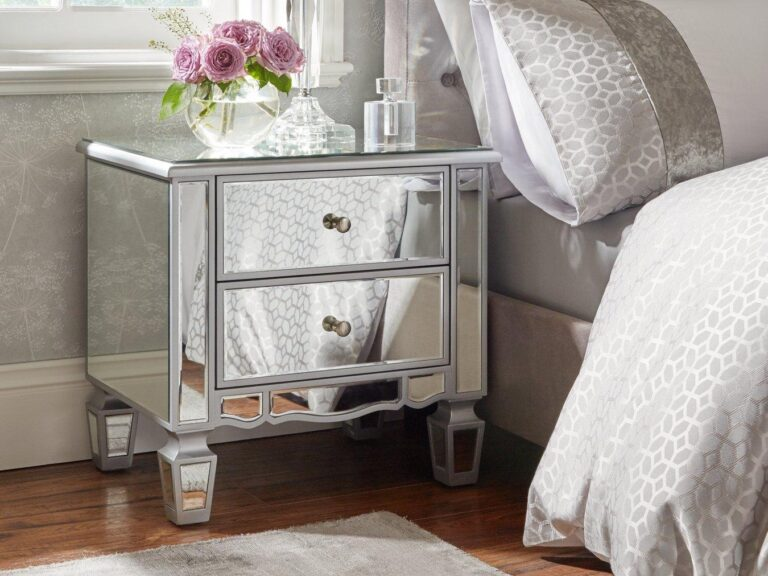 Mirrored bedside chest