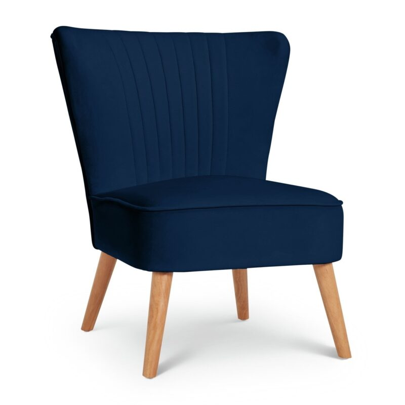 Navy fabric accent chair