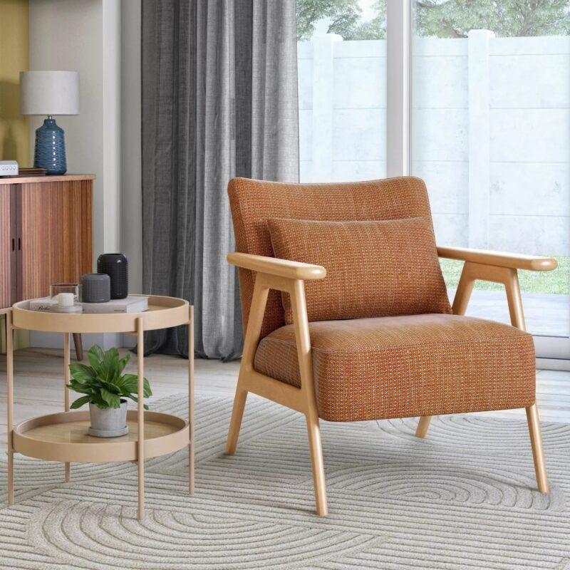 Mid-century style accent armchair