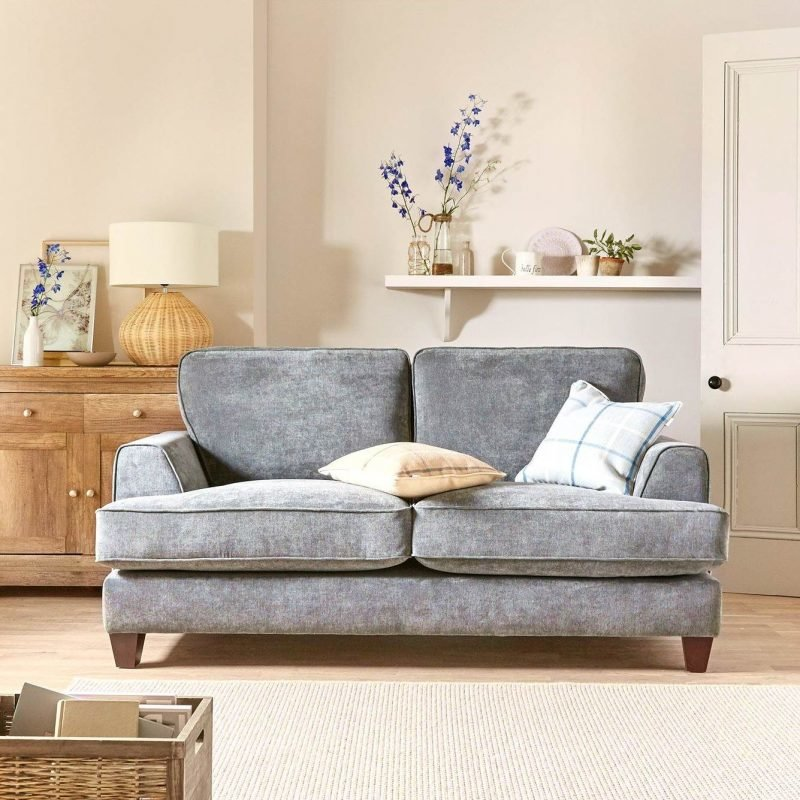 2-seater sofa upholstered in charcoal fabric