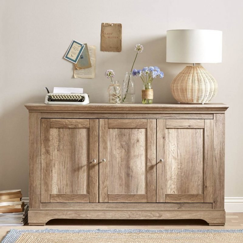 3-door oak sideboard