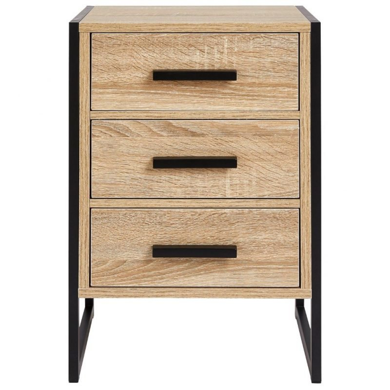 3 drawer unit with metal frame