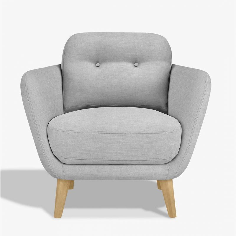 Grey modern armchair