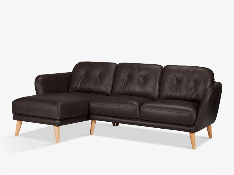 3 seater leather sofa with L/H chaise end
