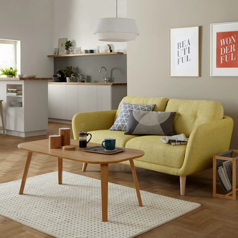 Lemon fabric sofa