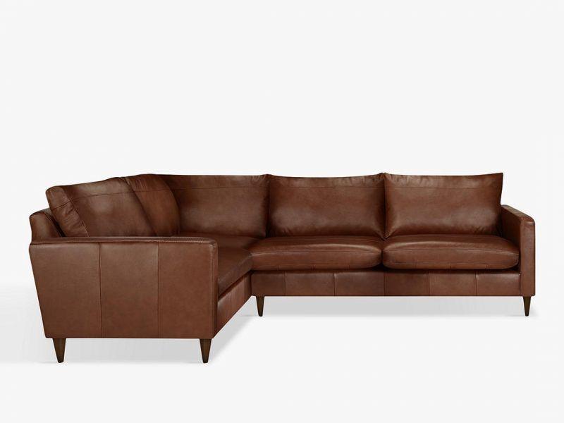 Leather corner sofa l/h