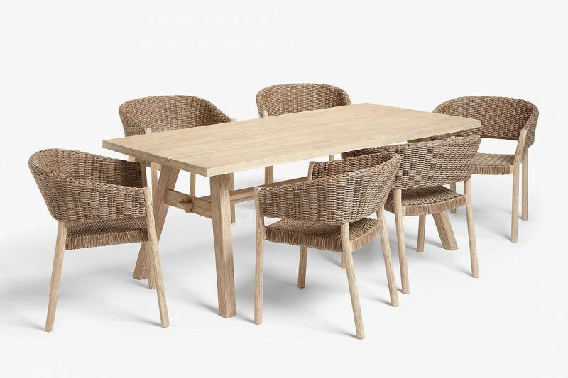 6 seater outdoor dining table and chairs