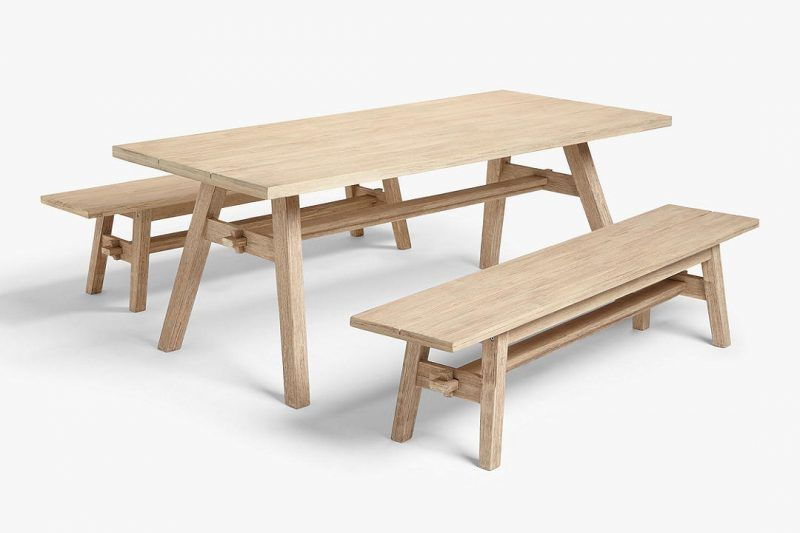 Outdoor dning table and benches