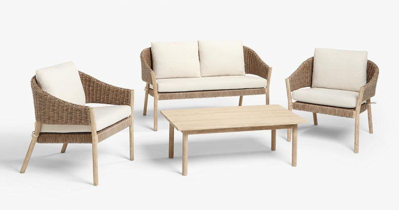 Outdoor coffee table and chairs