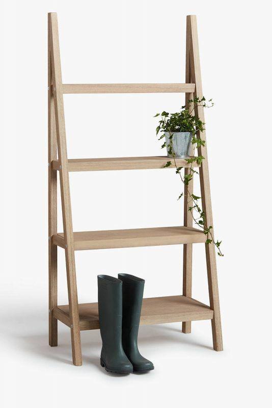 Outdoor ladder shelf