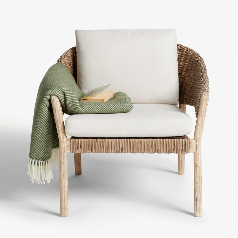 Outdoor chair with cushions