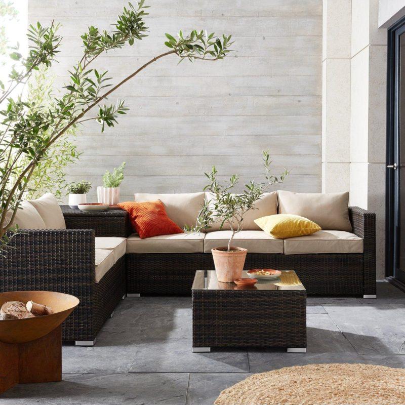 Rattan corner outdoor sofa set