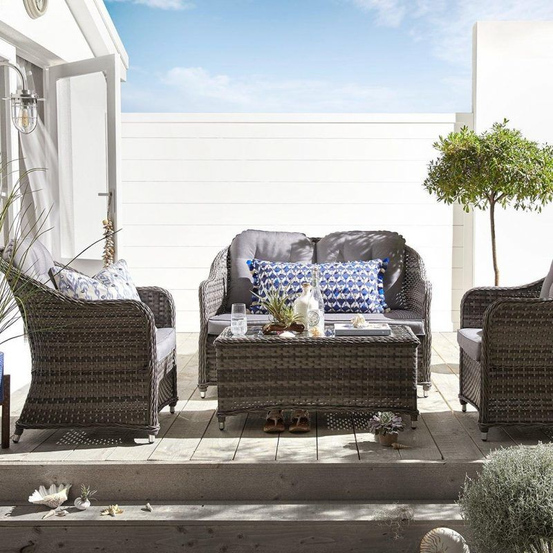 Rattan sofa and two rattan chairs