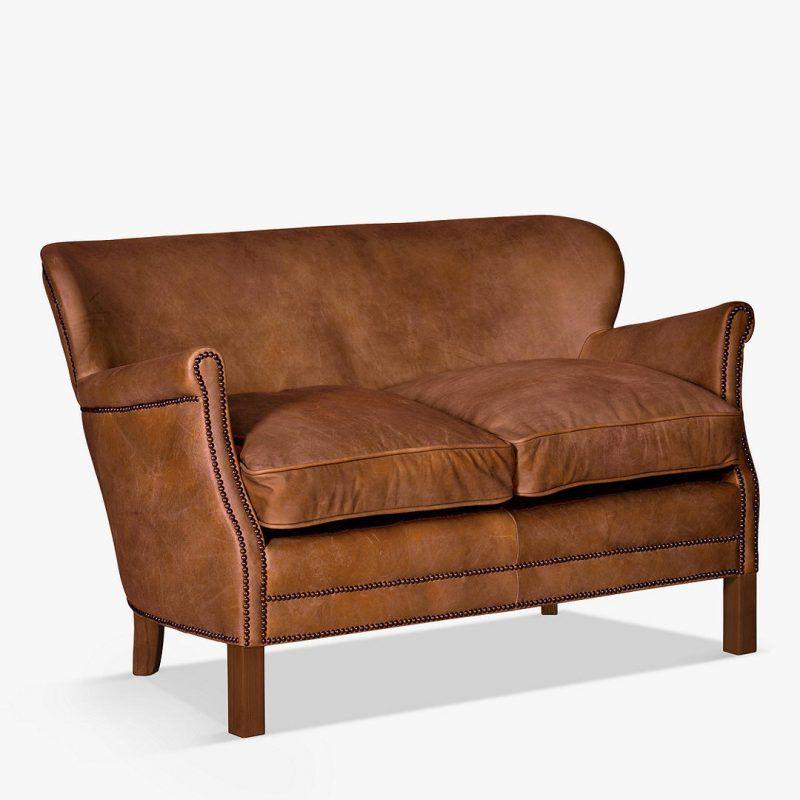 Halo Groucho Old Saddle Leather Sofas