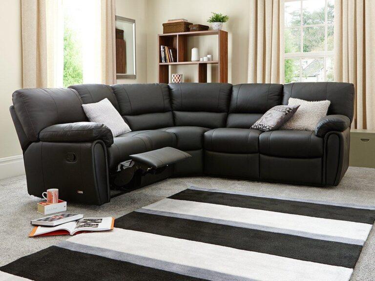 Leather sofa corner unit