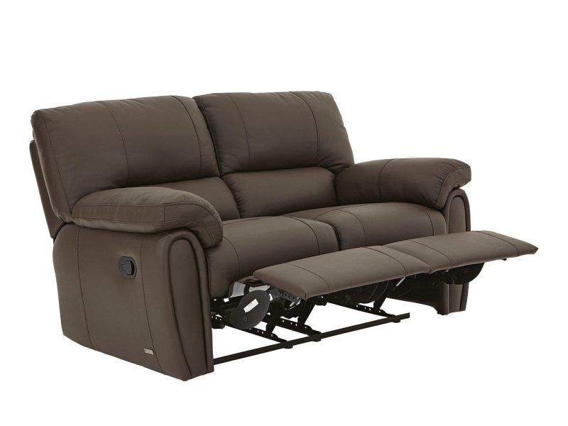 2-seater leather recliner