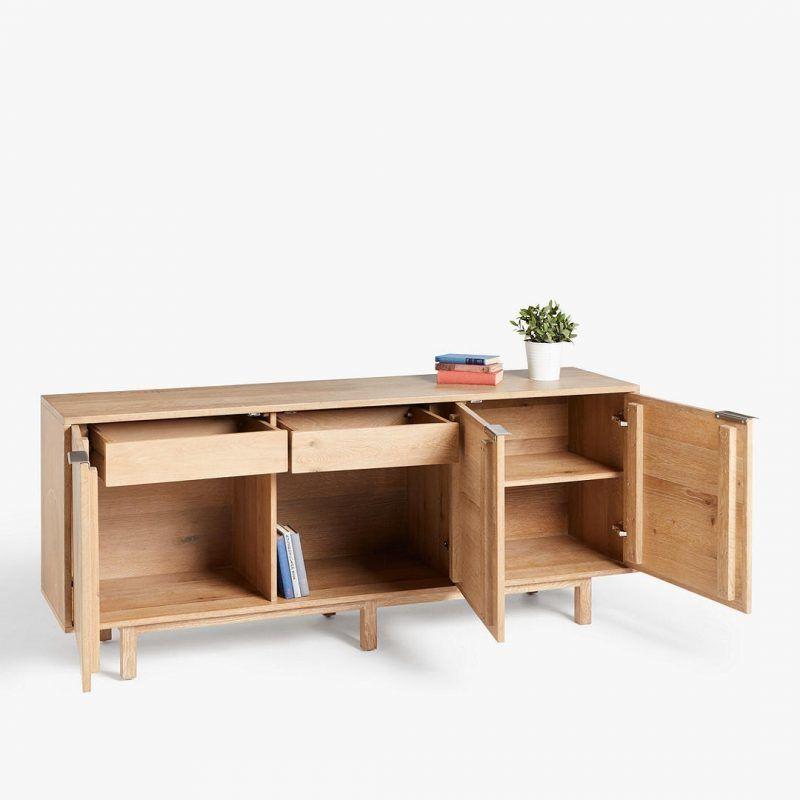 3-door oak sideboard