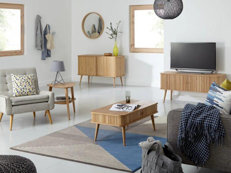 Oak living room storage furniture