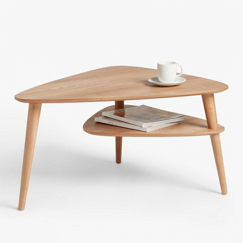2-tier triangular coffee table