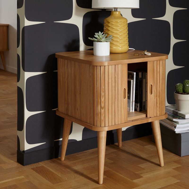 Side table with concealed storage