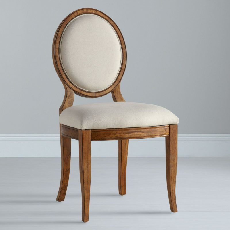 Upholstered oak dining chair