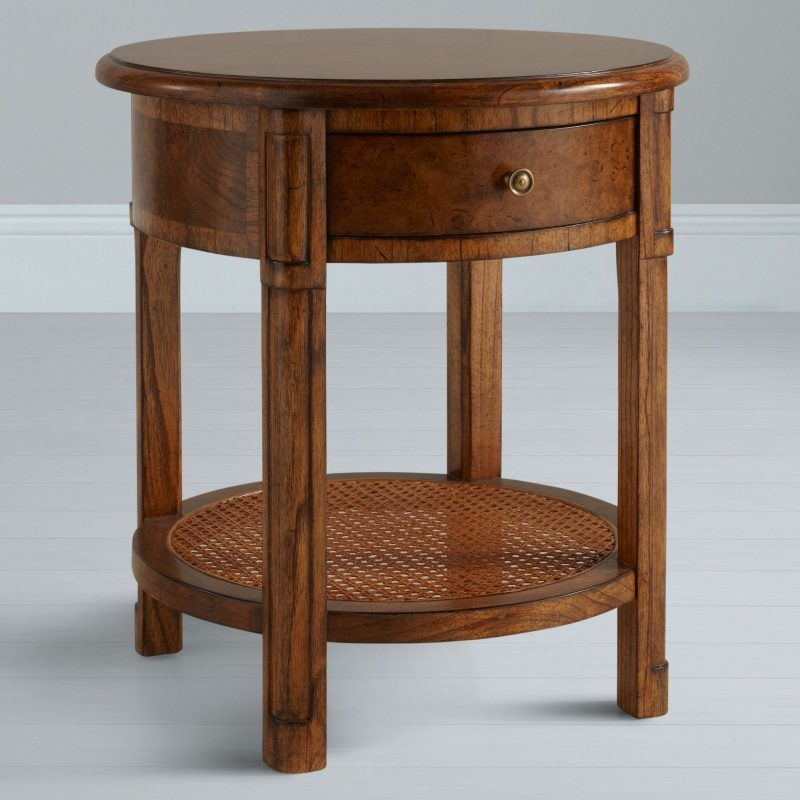 Circular, oak side table