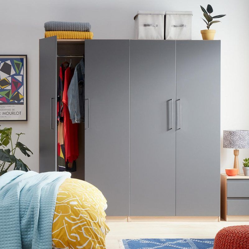 Graphite grey bedroom furniture