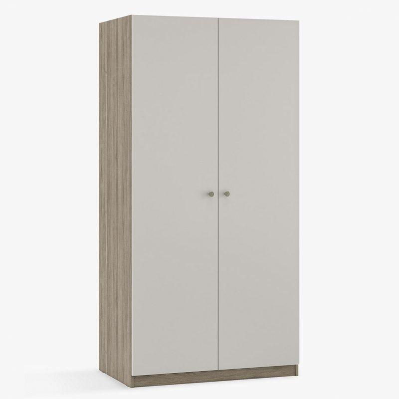 Double wardrobe with smoke grey doors