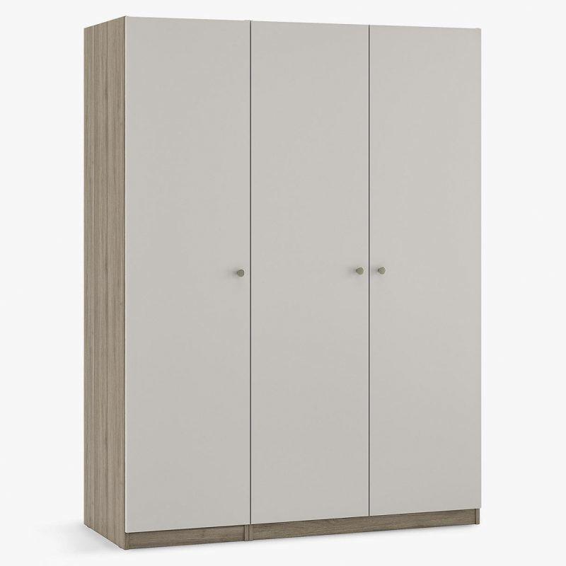 Triple wardrobe with smoke grey doors