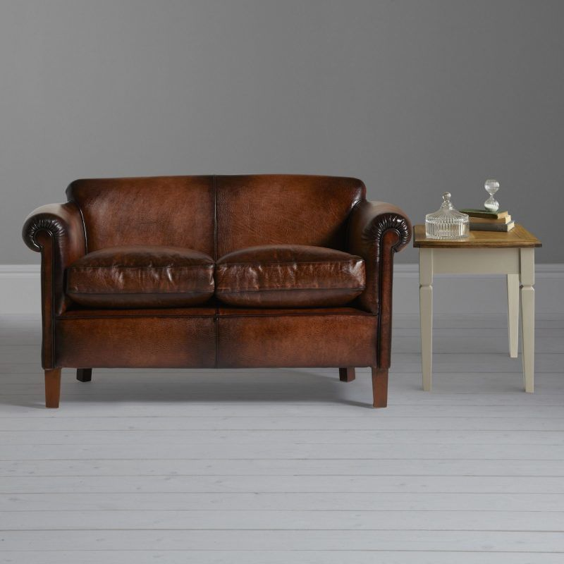 2-seater leather sofa