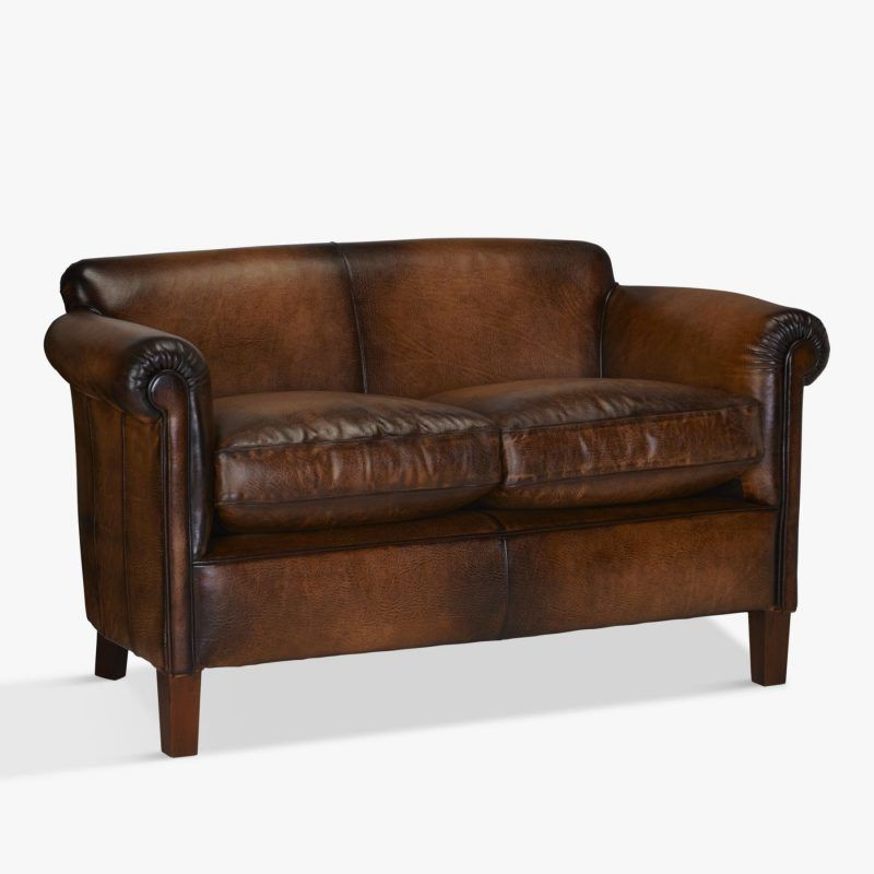 Hide leather sofa