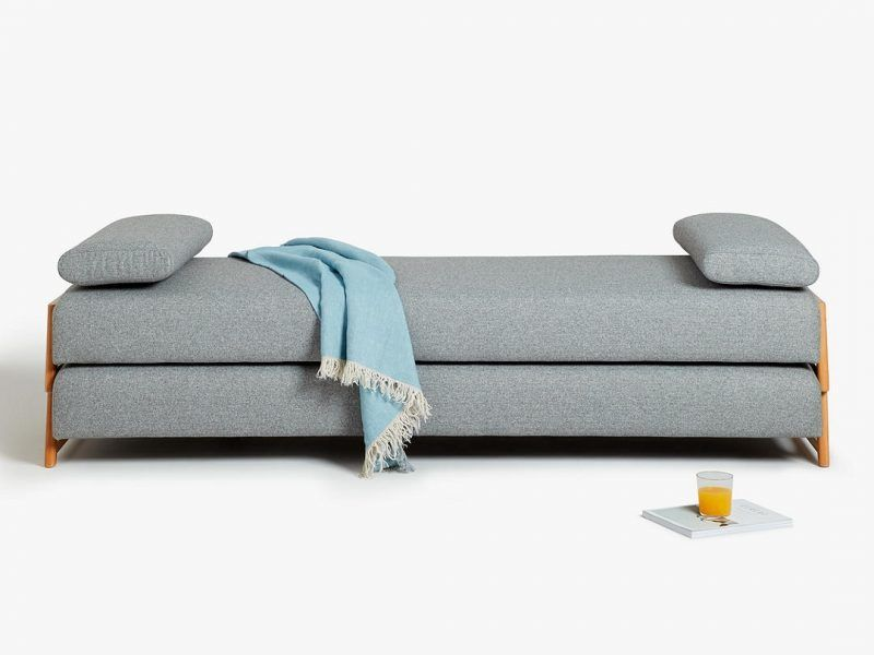 Grey fabric day bed as a sofa