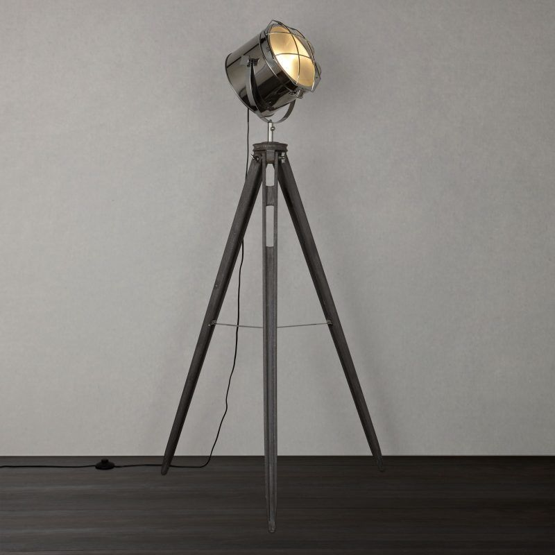 Marine-style lamp on a tripod base