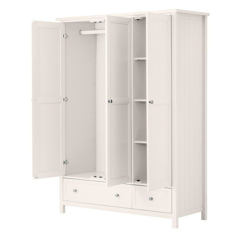 £ door white-painted wardrobe with drawers