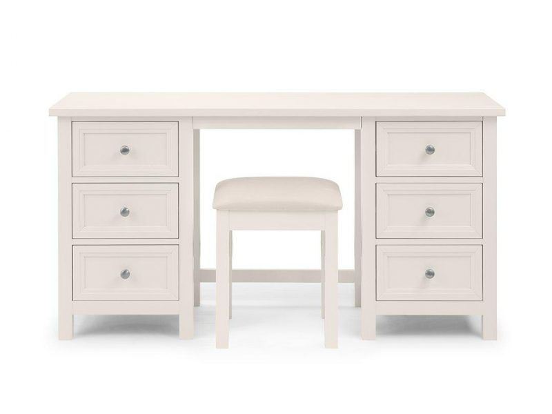 Twin pedestal dressing table and stool