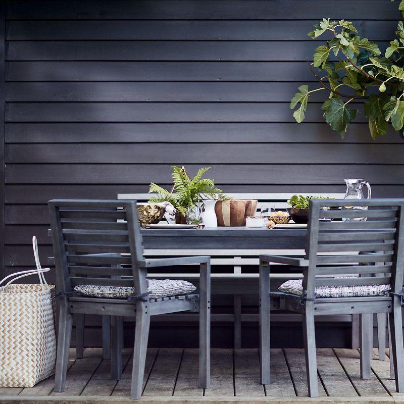 Wooden outdoor dining set