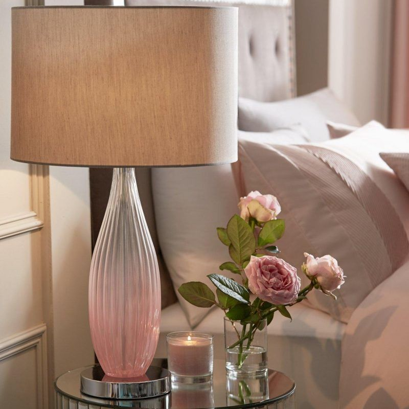 Pink decorative table lamp